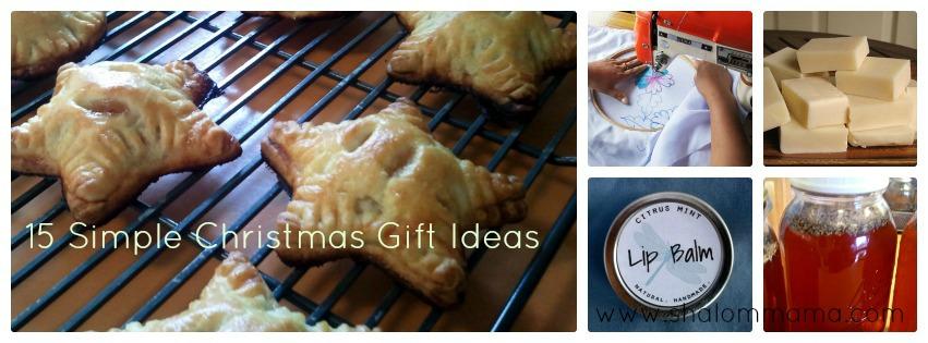 15 Simple Christmas Gift Ideas