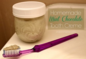 homemade mint chocolate tooth creme