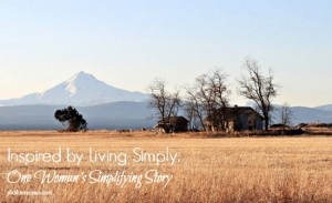 Inspired by Living Simply: One Woman's Simplifying Story