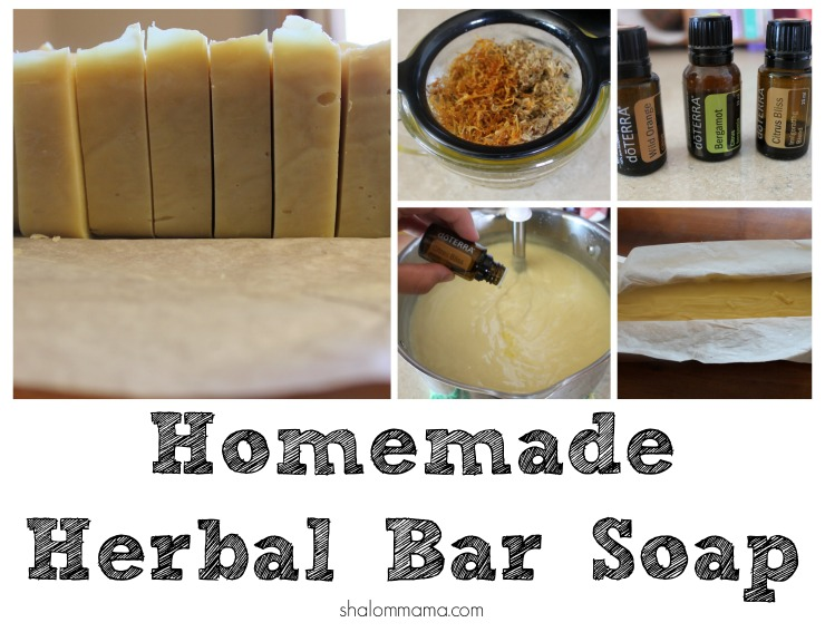 Homemade Herbal Bar Soap