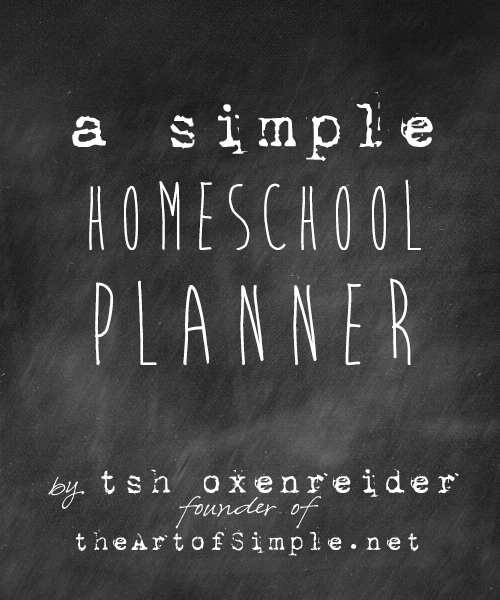 Simple homeschool planner
