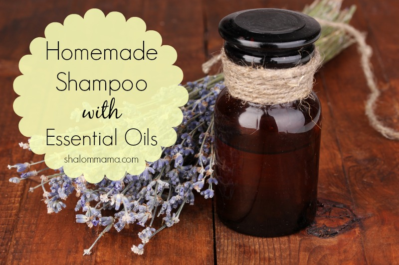 Homemade shampoo with essential oils. Super easy, natural recipe that can be customized for different hair types/scalp problems.