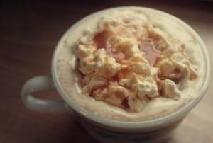 Homemade Whipped Cream and Caramel Sauce