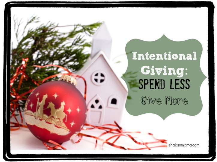Intentional Giving Spend Less, Give More