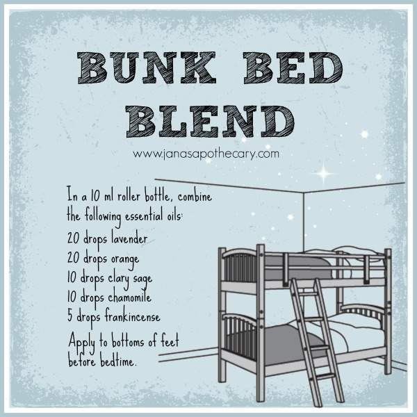 Bunk Bed Blend. Essential oil blend to help you get to sleep easier.