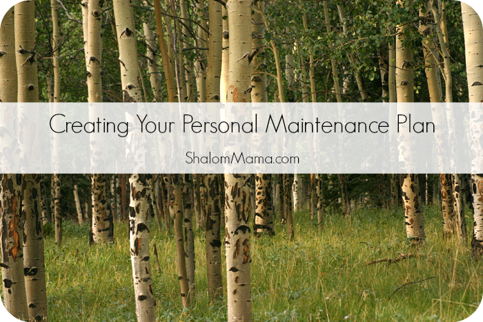 Creating your personal maintenance plan | Shalom Mama