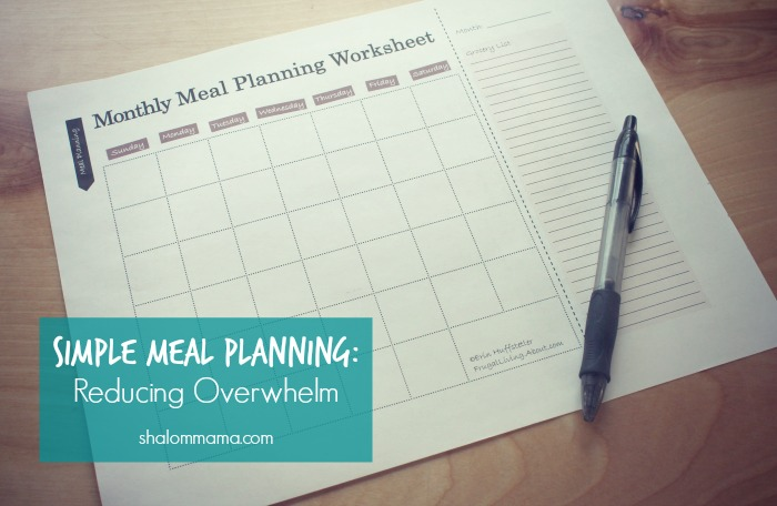 Simple Meal Planning Reducing Overwhelm