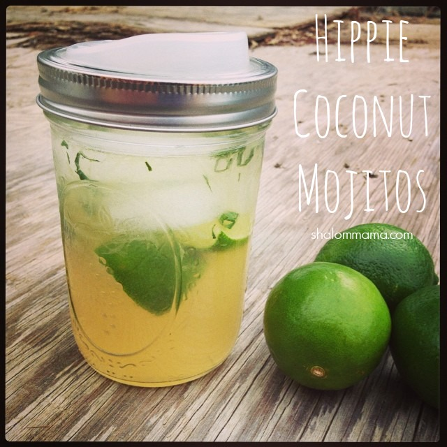 Making mojitos in the wild {Hippie Coconut Mojito recipe}