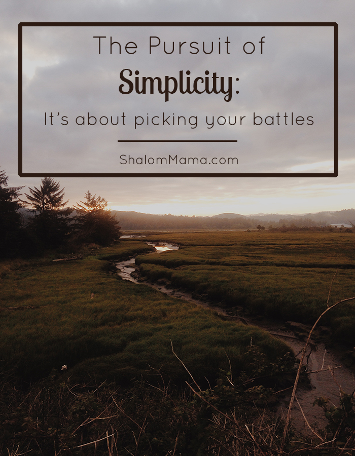 The Pursuit of Simplicity: It's About Picking Your Battles | ShalomMama.com