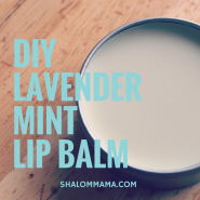 DIY Lavender mint lip balm