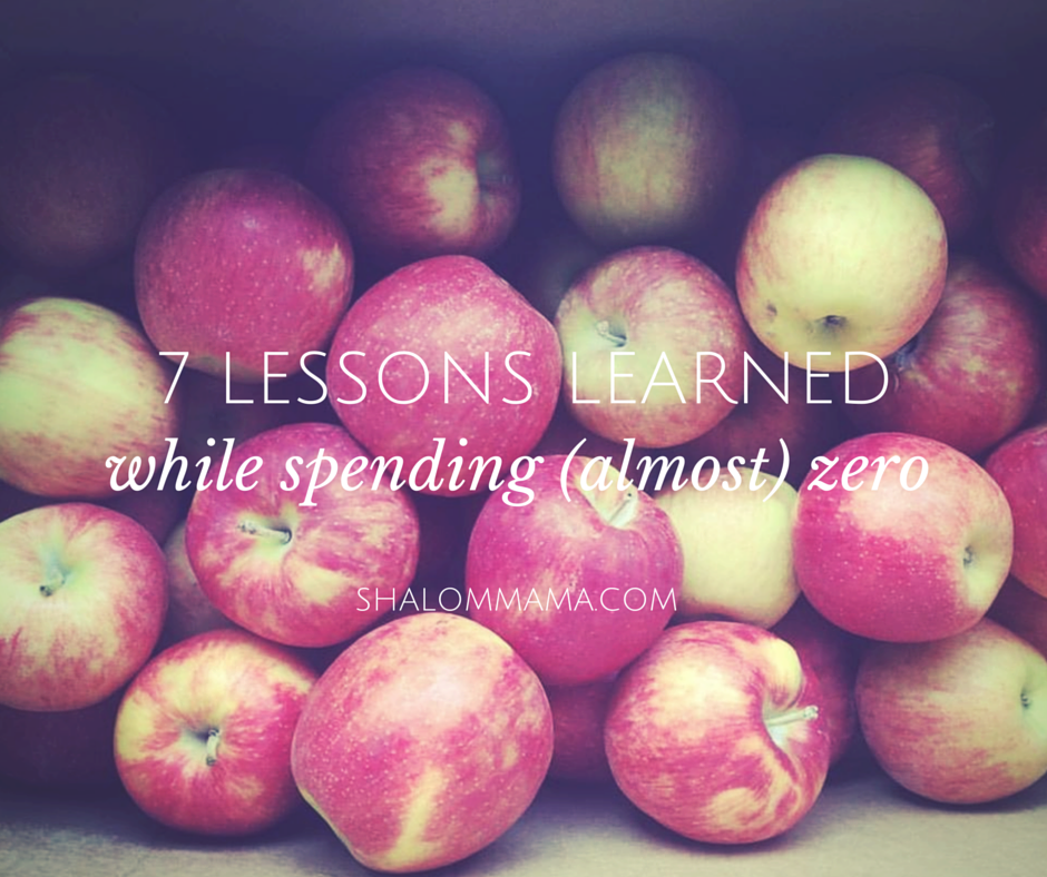 7 lessons learned while spending (almost) zero