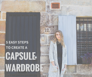 5 easy steps to create a capsule wardrobe