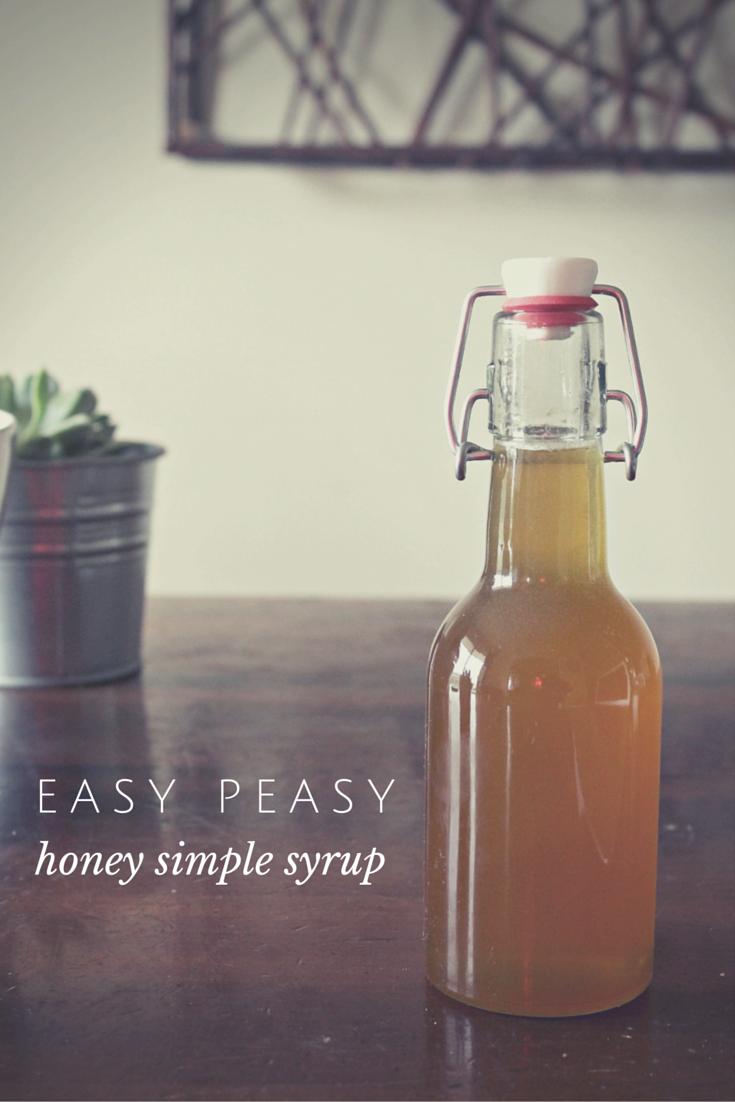 Easy peasy DIY honey simple syrup
