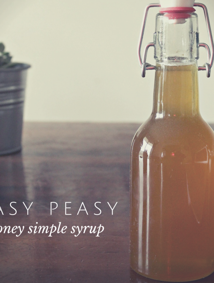 Easy peasy DIY honey simple syrup(1)